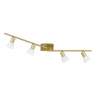 WOFI 9354.04.32.1000 | Angola Wofi stenové, stropné svietidlo otočné prvky, navrhované na úsporné žiarovky 4x E14 matné zlato