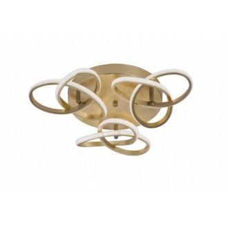 WOFI 9410.03.15.8000 | Eliot-WO Wofi stropné svietidlo otočné prvky 3x LED 3300lm 3000K zlatý