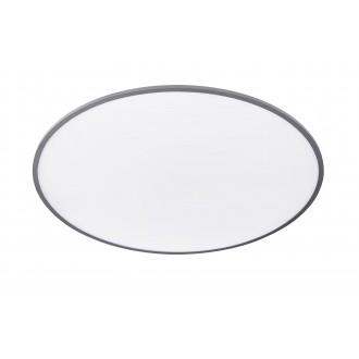WOFI 9457.01.70.7100 | LiNoX Wofi stropné svietidlo kruhový diaľkový ovládač regulovateľná intenzita svetla, nastaviteľná farebná teplota 1x LED 4800lm 2700 <-> 6500K strieborný, biela