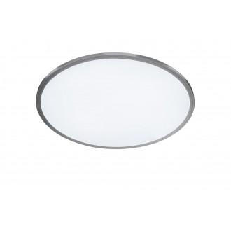 WOFI 9457.01.70.7600 | LiNoX Wofi stropné svietidlo kruhový diaľkový ovládač regulovateľná intenzita svetla, nastaviteľná farebná teplota 1x LED 2700lm 2700 <-> 6500K strieborný, biela