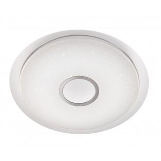 WOFI 9540.01.06.0600 | Kiana Wofi stropné svietidlo diaľkový ovládač regulovateľná intenzita svetla, nastaviteľná farebná teplota 1x LED 3200lm 3000 <-> 6000K biela, strieborný, kryštálový efekt