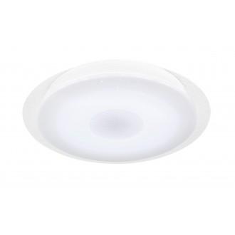 WOFI 9540.01.06.2400 | Kiana Wofi stropné svietidlo kruhový diaľkový ovládač regulovateľná intenzita svetla, nastaviteľná farebná teplota 1x LED 2000lm 3000 <-> 6000K IP40 biela, kryštálový efekt