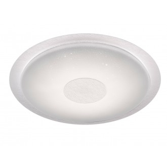 WOFI 9540.01.06.2600 | Kiana Wofi stropné svietidlo kruhový diaľkový ovládač regulovateľná intenzita svetla, nastaviteľná farebná teplota 1x LED 3300lm 2800 <-> 6000K IP40 biela, kryštálový efekt