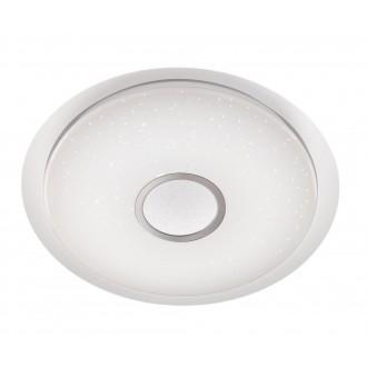 WOFI 955501066100 | Minor Wofi stropné svietidlo kruhový diaľkový ovládač regulovateľná intenzita svetla, nastaviteľná farebná teplota 1x LED 2300lm 2900 <-> 5800K biela, strieborný, kryštálový efekt