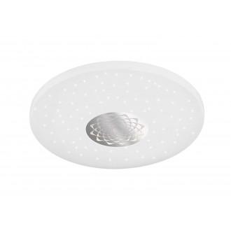 WOFI 993401066000   Moris Wofi stropné svietidlo kruhový diaľkový ovládač regulovateľná intenzita svetla, nastaviteľná farebná teplota 1x LED 1400lm 3000 <-> 6400K biela, strieborný, kryštálový efekt